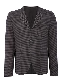 Stoker Dogtooth Cotton Workwear Blazer