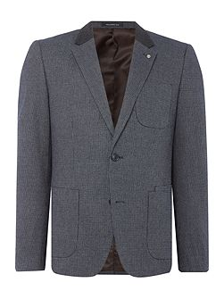 Charter Textured Cotton Mix Blazer