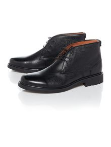 Peter Werth Oldman Pebble Leather Chukka Boot Black