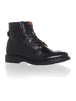 Oldman Full Grain Leather Brogue Boot