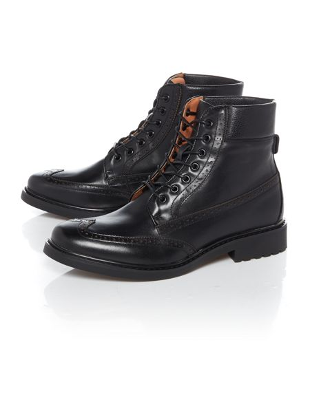 Peter Werth Oldman Full Grain Leather Brogue Boot
