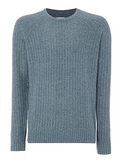 Oregon Knitted Wool Mix Crew Neck