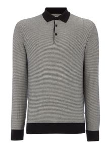 Peter Werth Gang Striped Knitted Cotton Polo Shirt