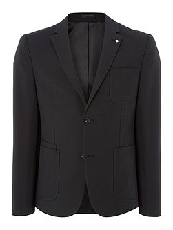 Glen Zig Zag Cotton Blazer