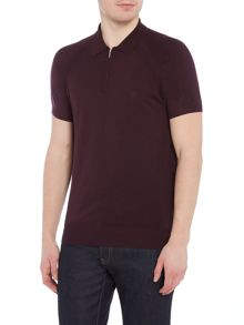 Peter Werth Witham Knitted Polo Shirt With Half Zip