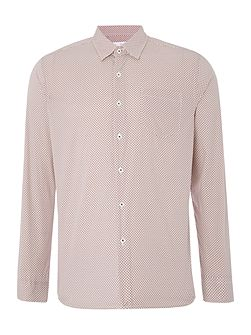 Wise Circle Print Stretch Cotton Shirt