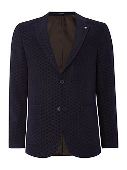 Aldous Geo Wool Cotton Mix Blazer