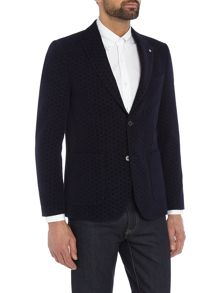 Peter Werth Aldous Geo Wool Cotton Mix Blazer