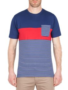 Racing Green Sanchez Stripe and Pocket T-Shirt