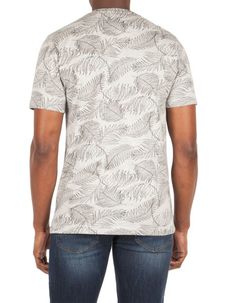 Racing Green Sherwood Palm Leaf Print T-shirt