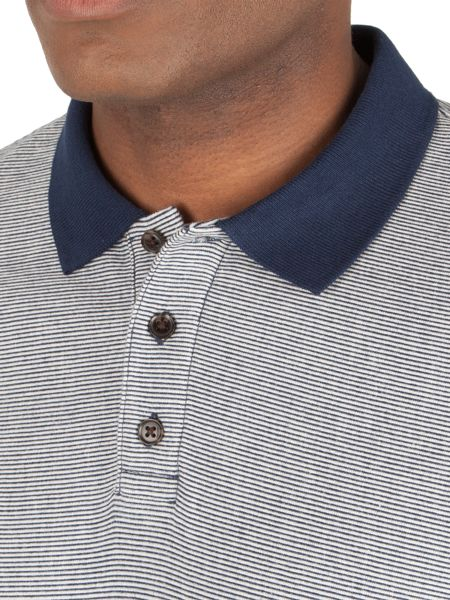 Racing Green Cartel stripe polo