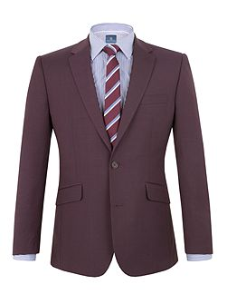 Morton plum plain weave suit