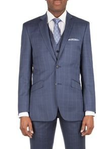 Alexandre of England Litchfield check tailored fit jacket