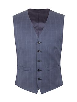 Litchfield check tailored fit waistcoat