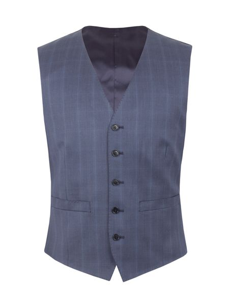 Alexandre of England Litchfield check tailored fit waistcoat