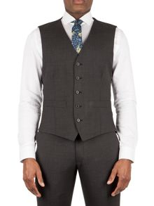 Racing Green Barnes puppytooth tailored waistcoat
