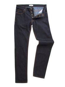 Racing Green Dene straight fit rinse wash rigid jean