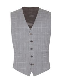 Alexandre of England Vincent tailored fit check waistcoat