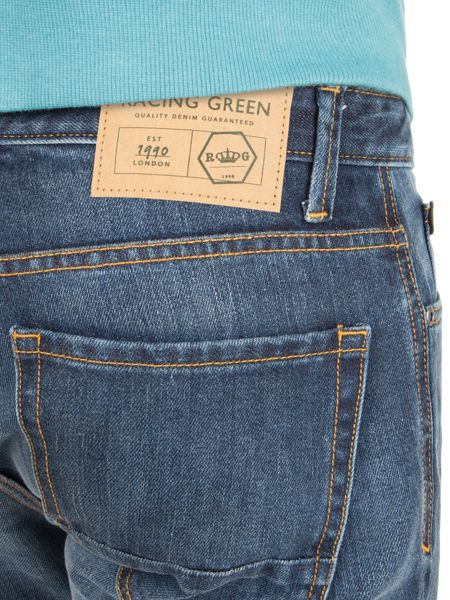 Racing Green Dene straight fit stonewash jean