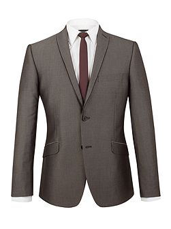 Johnston grey micro slim fit jacket