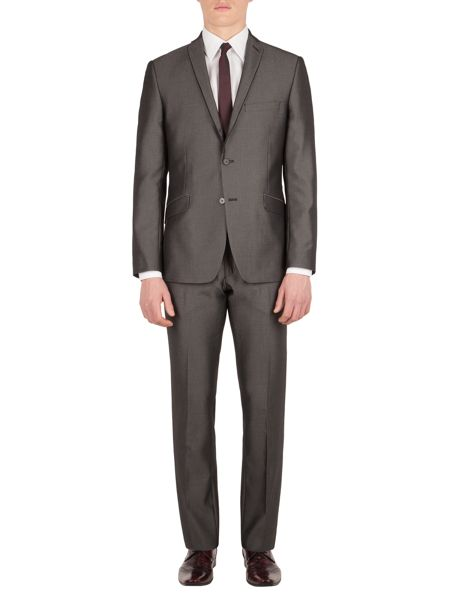 Limehaus Johnston grey micro slim fit jacket