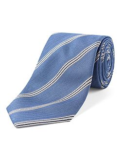 York Herringbone stripe tie