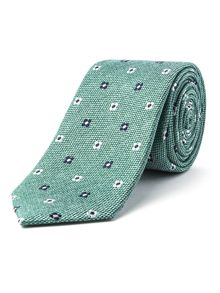 Racing Green Khalo flower design tie