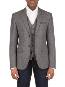 Racing Green Griffiths herringbone tailored jacket