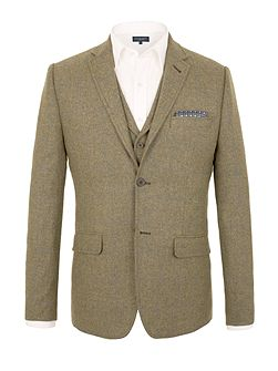 Wright herringbone tailored jacket