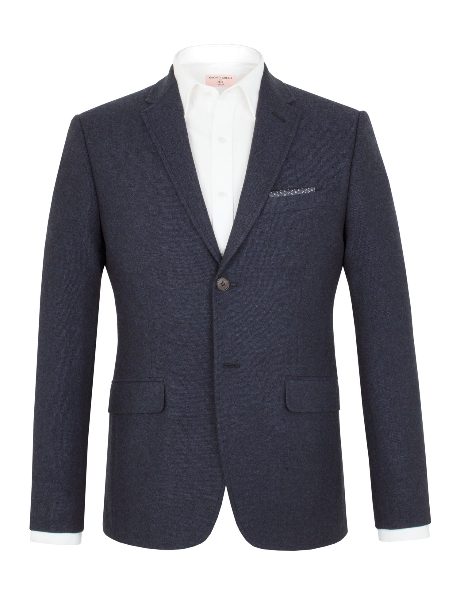 Racing Green Men's Racing Green Thompson donegal tailored jacket, Blue