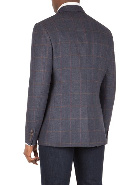 Racing Green Hughes herringbone tailored jacket
