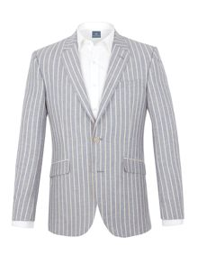 Aston & Gunn Calder stripe tailored jacket