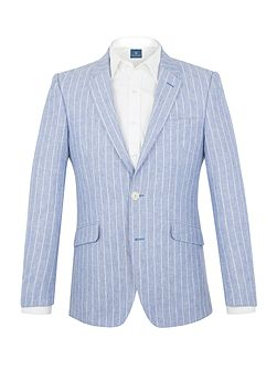 Haworth stripe tailored jacket