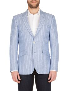 Aston & Gunn Haworth  stripe tailored jacket
