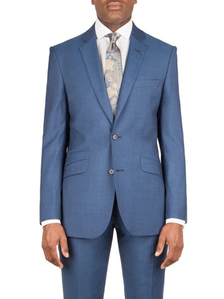 Alexandre of England Goldsmith bright blue panama jacket