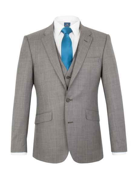 Aston & Gunn Oxenhope tailored sharkskin jacket