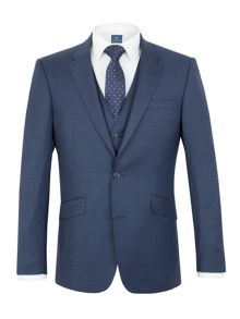 Aston & Gunn Oxenhope sharkskin tailored jacket