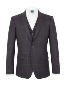 Aston & Gunn Oakworth check  tailored jacket