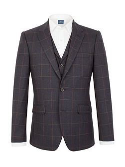 Oakworth check tailored jacket