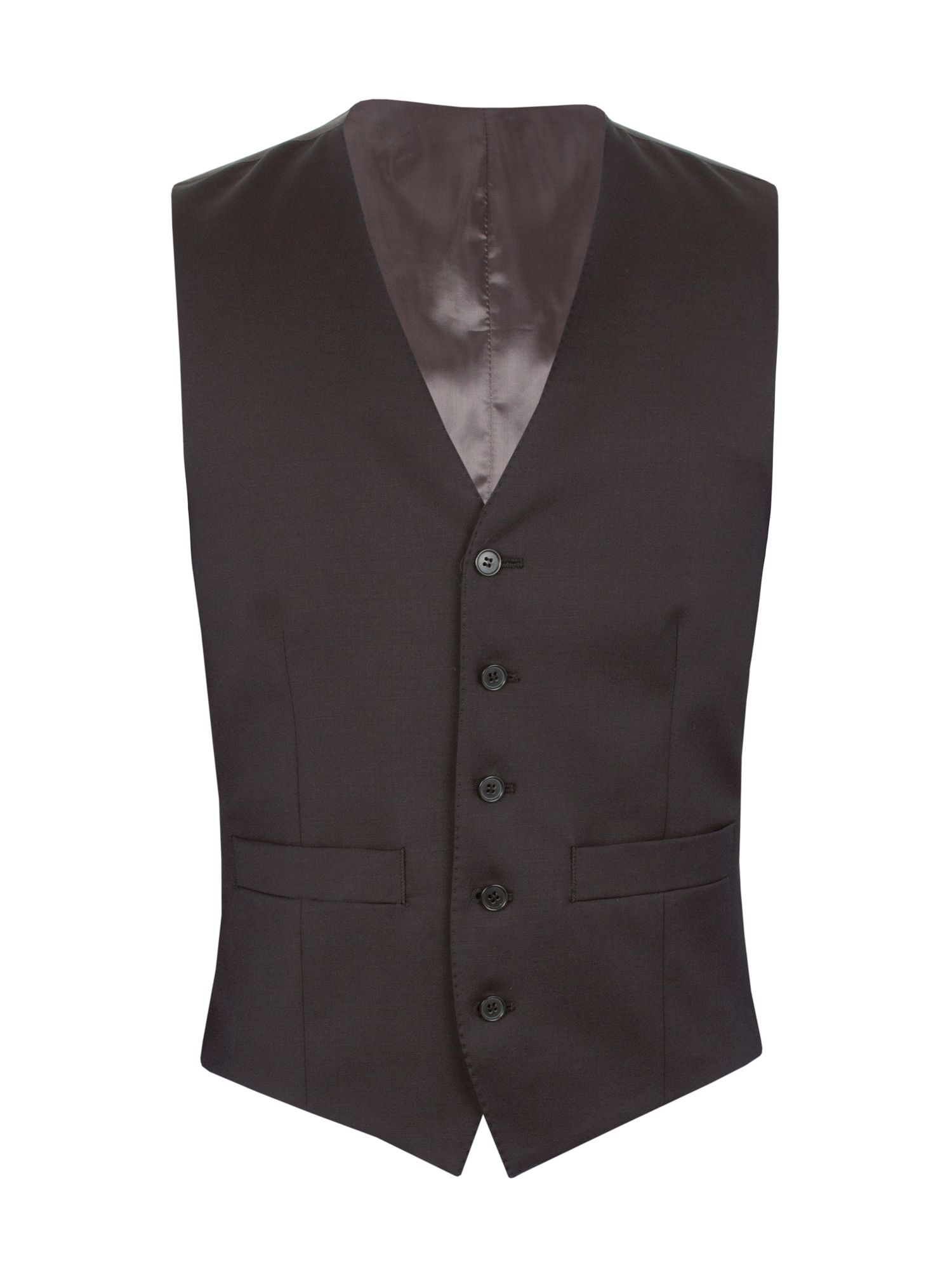 Men's Aston & Gunn Kinsley regular vest, Black