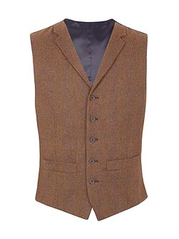 Oakworth check tailored waistcoat