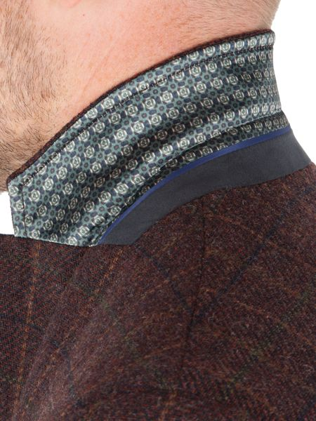 Racing Green Digby Wine Check Blazer