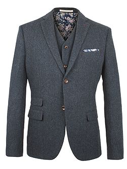Powell Herringbone Blazer
