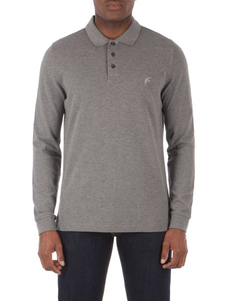 Racing Green Jackson Long Sleeve Pique polo