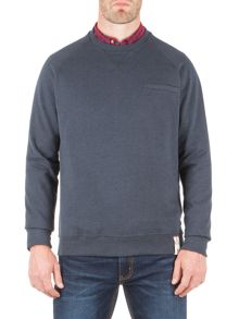 Racing Green Batchelor Pocket Detail Sweatshirt