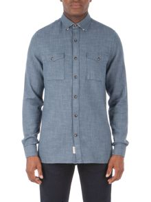 Racing Green Beck Semi Plain Long Sleeve Shirt