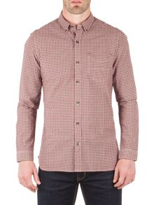 Racing Green Pope Mini Check Long Sleeve Shirt