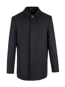 Aston & Gunn Harle Navy Melton Car Coat
