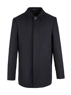 Harle Navy Melton Car Coat