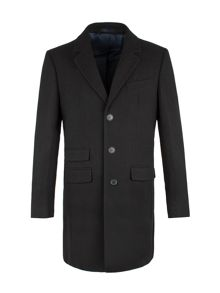 Aston & Gunn Ireby Black Melton Car Coat